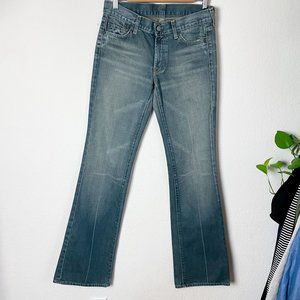7 For All Mankind Bootcut Jeans Tan Blue 27
